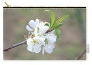 White Plum Blossoms Carry-all Pouch