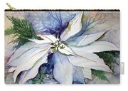 White Poinsettia Carry-all Pouch
