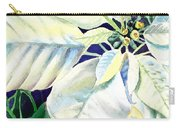 White Poinsettia Plant Carry-all Pouch