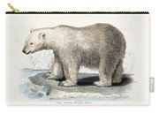 White Polar Bear On Ice Floe Carry-all Pouch