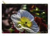 White Poppy Carry-all Pouch
