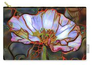 White Poppy Flower Carry-all Pouch