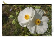 White Poppy Twins Carry-all Pouch