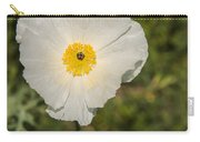 White Poppy With Buds Carry-all Pouch