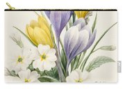 White Primroses And Early Hybrid Crocuses Carry-all Pouch