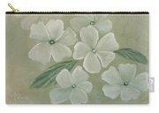 White Primula Carry-all Pouch