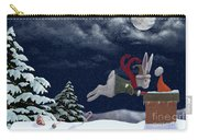 White Rabbit Christmas Carry-all Pouch