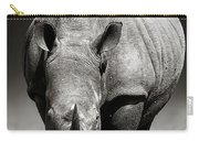 White Rhinoceros  In Due-tone Carry-all Pouch