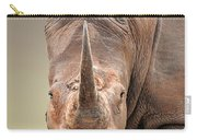 White Rhinoceros Portrait Carry-all Pouch
