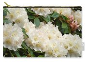 White Rhodies Landscape Floral Art Prints Canvas Baslee Troutman Carry-all Pouch
