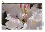 White Rhodies Pink Rhododendrons Flowers Art Prints Canvas Botanical Baslee Troutman Carry-all Pouch