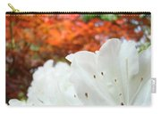 White Rhododendron Flowers Botanical Garden Prints Carry-all Pouch