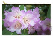 White Rhododendron Flowers With A Purple Fringe Carry-all Pouch