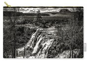White River Falls Black  And White Carry-all Pouch