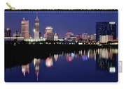 White River Reflects Indy Skyline Carry-all Pouch