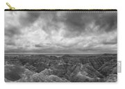 White River Valley Overlook Panorama 2 Bw Carry-all Pouch
