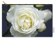 White Rose Bloom Carry-all Pouch