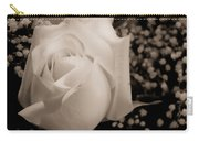 White Rose Bw Fine Art Photography Print Carry-all Pouch