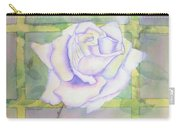 White Rose Carry-all Pouch