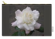 White Rose In Rain - 3 Carry-all Pouch