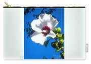 White Rose Of Sharon Hanging Out In The Sky Carry-all Pouch