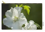 White Rose Of Sharon Squared Carry-all Pouch by Teresa Mucha