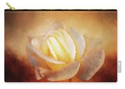 White Rose On Deep Texture Carry-all Pouch