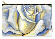 White Rose Two Carry-all Pouch