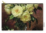 White Roses - A Gift From The Heart Carry-all Pouch by Albert Williams