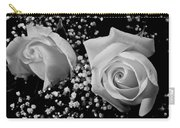 White Roses Bw Fine Art Photography Print Carry-all Pouch