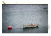 White Rowboat And Seagull Carry-all Pouch