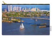 White Sailboat On The Water Carry-all Pouch