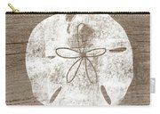 White Sand Dollar- Art By Linda Woods Carry-all Pouch