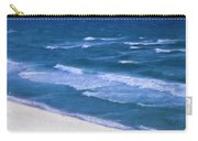 White Sand Ocean Waves Carry-all Pouch