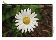 White Shasta Daisy In The Rain Carry-all Pouch