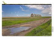 White Sheds On A Prairie Farm In Spring Carry-all Pouch