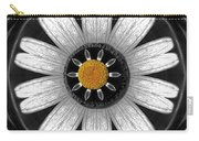 White Shimmering Flower Carry-all Pouch
