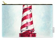 White Shoal Lighthouse Michigan Nautical Light House Red And White Candycane Stripes Carry-all Pouch