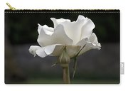 White Simplicity Rose Profile Carry-all Pouch