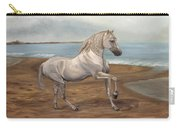 White Spanish Horse Carry-all Pouch