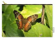 White Spotted Butterfly Carry-all Pouch