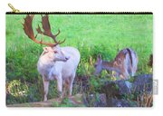 White Stag And Hind 2 Carry-all Pouch