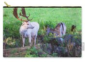 White Stag And Hind Carry-all Pouch