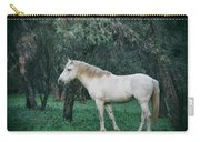 White Stallion In The Woods  Carry-all Pouch