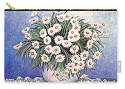 White Straw Flowers Two Carry-all Pouch
