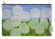 White Sunflowers, Painting Carry-all Pouch