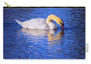 White Swan Drinking Water In A Pond Carry-all Pouch