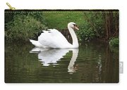 White Swan In Belgium Park Carry-all Pouch