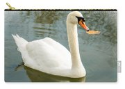 White Swan With Reflection Carry-all Pouch
