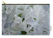 White Sweetpeas Carry-all Pouch